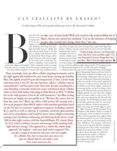 Harper's Bazaar Features The Anushka Cellulite Clinic P2 May 2014