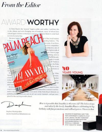Palm Beach Illustrated Editor Gives Anushka A 40th Anniversary Nod_September 2014