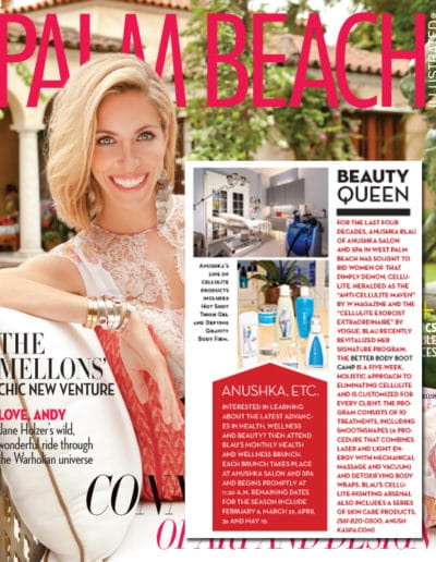 Palm Beach Illustrated Features The Anushka Cellulite Clinic February 2014