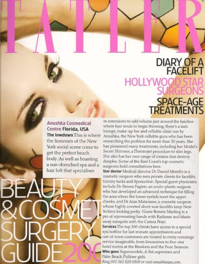 Tatler Features The Anushka Salon and Cosmedical Centre 2009