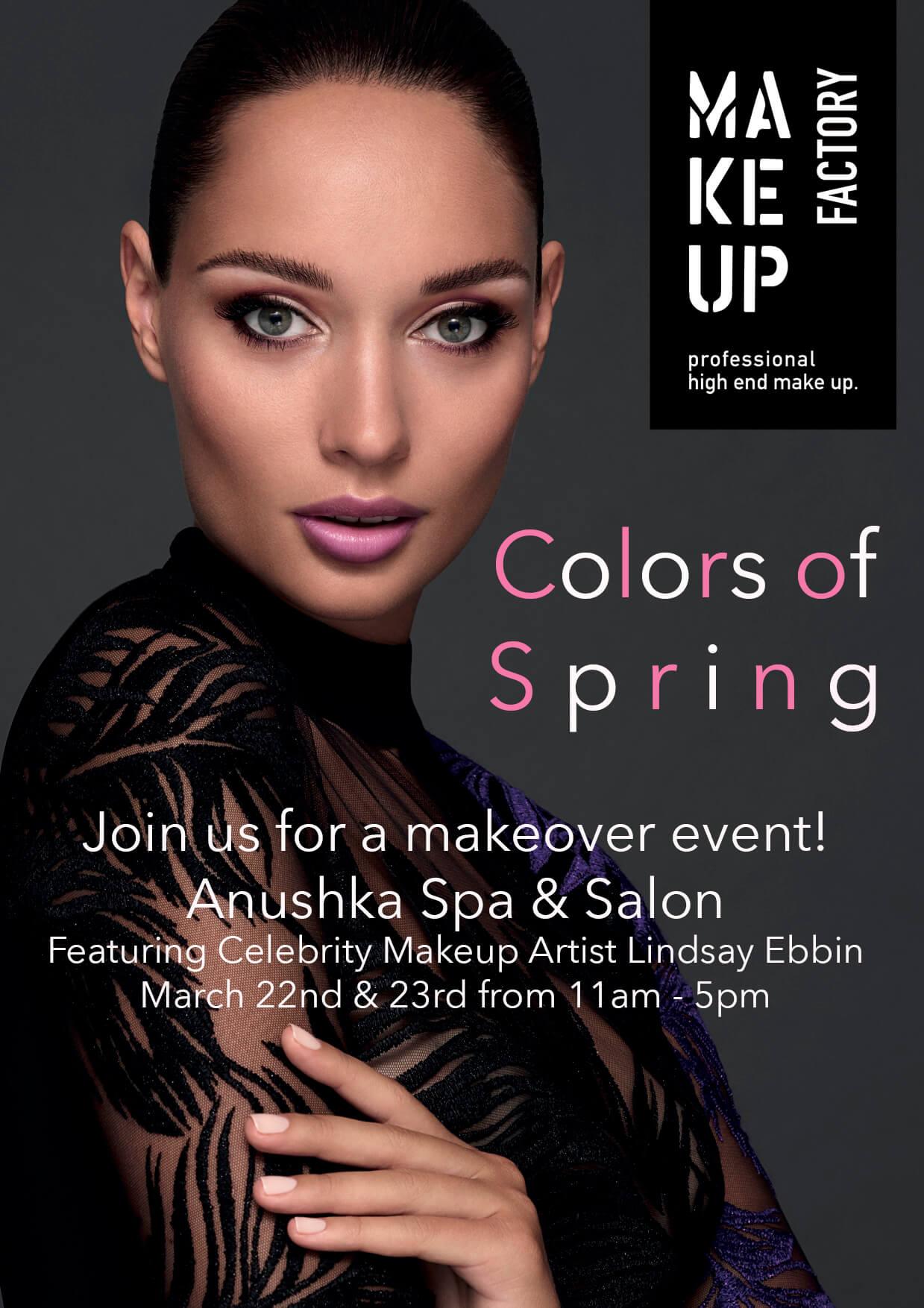 Anushka Spring Makeup Event at Anushka Spa & Salon in West Palm Beach, FL