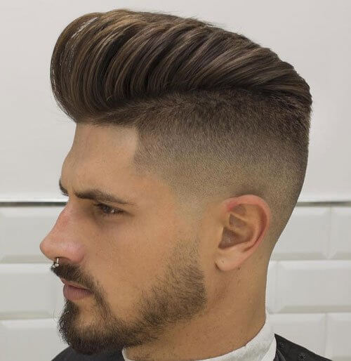 Taper Fade Pompadour Men's Haircut