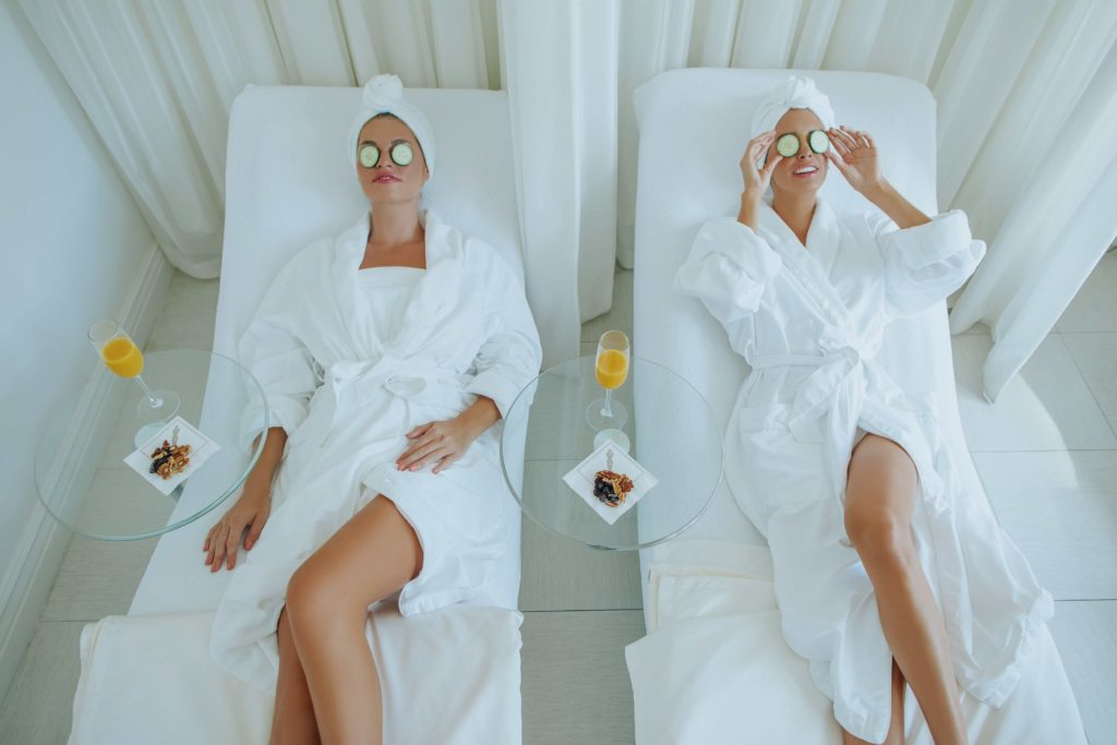 Two woman relaxing after spa treatment at Anushka Spa