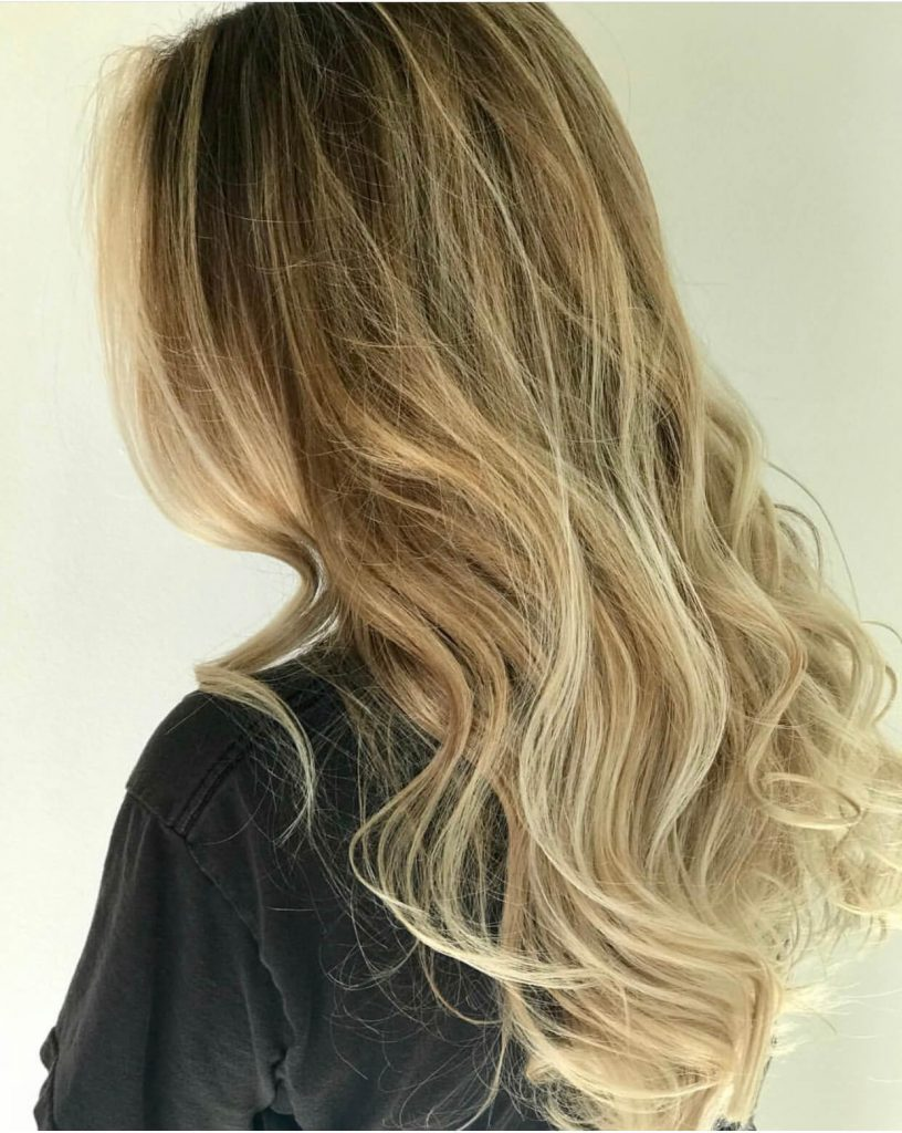 Image of a woman after trying balayage