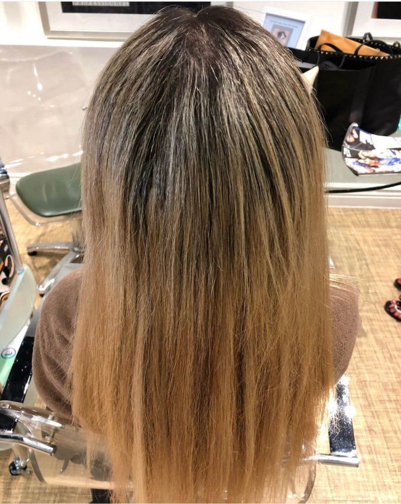 Hair salon treatment for dry hair