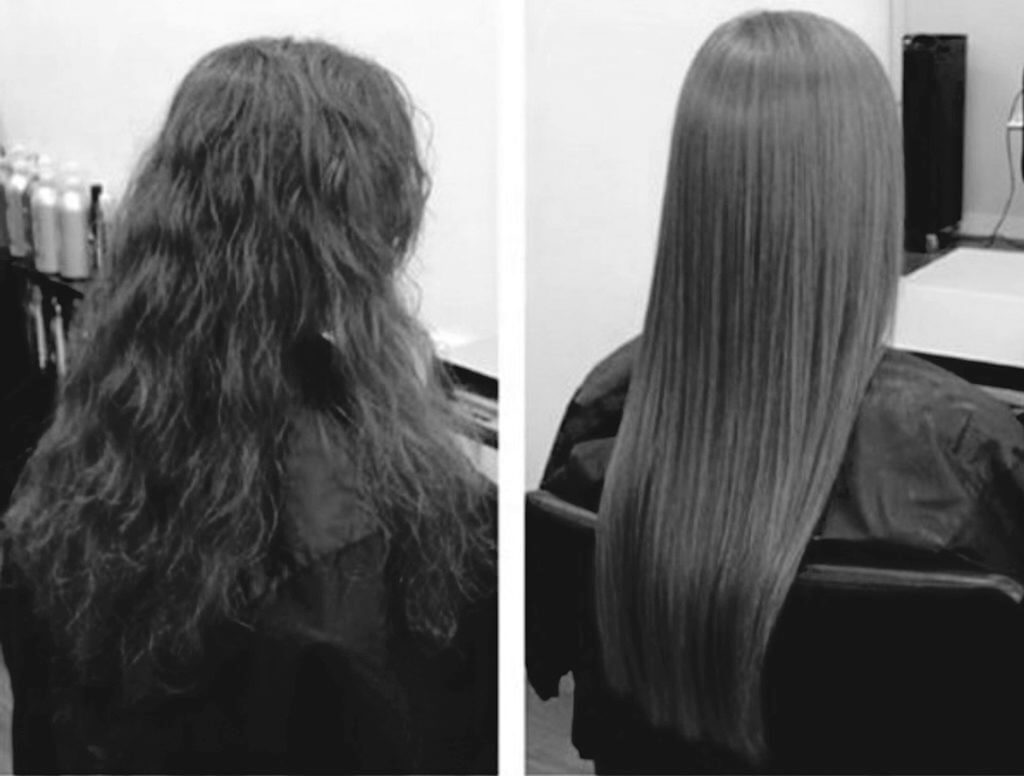 before and after keratine treatment