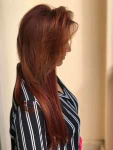 Cool copper haircolor for women