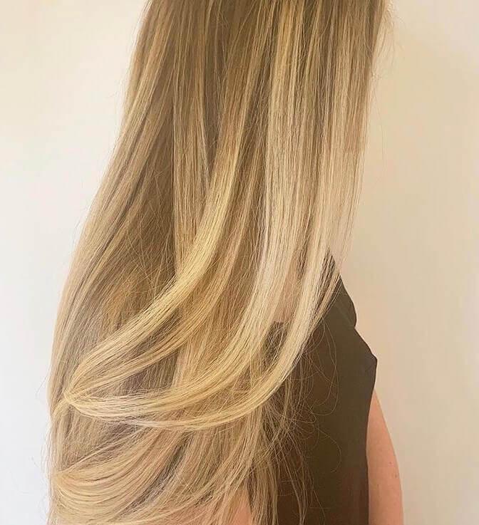 Sweet honey haircolor for women