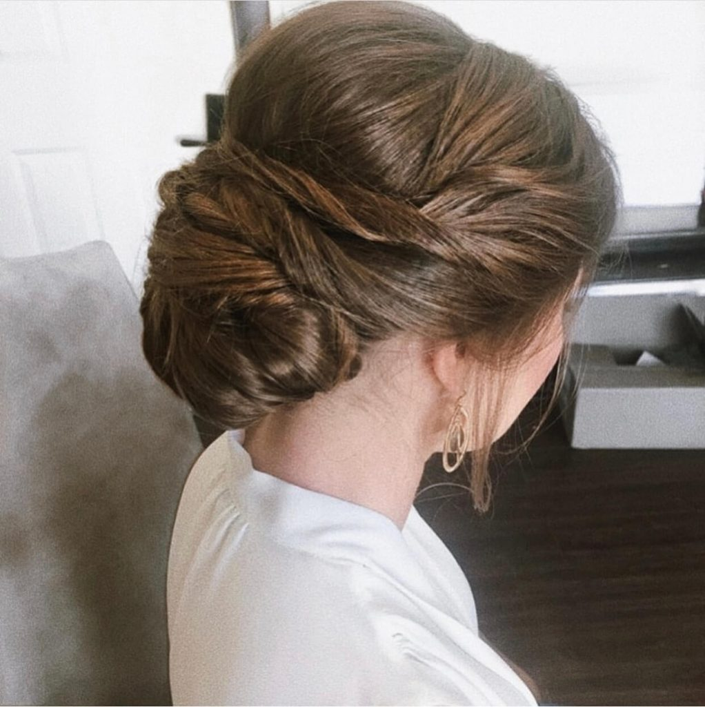 brown wedding hairstyle