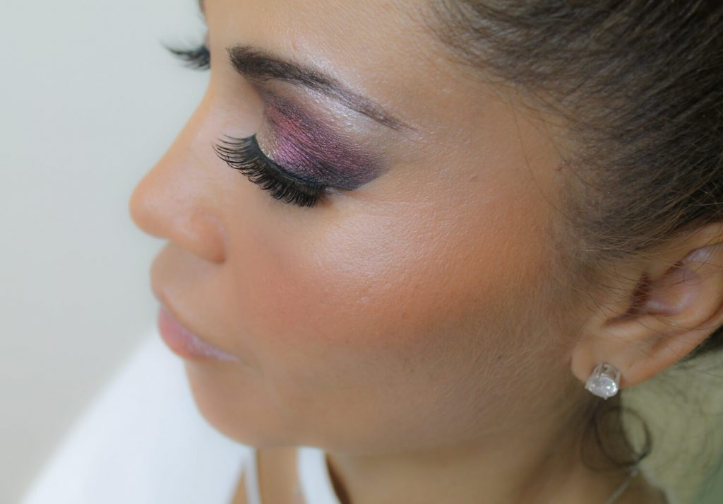 side view of lash extensions west palm beach