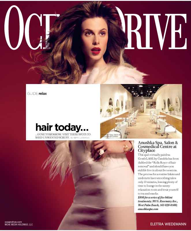 Ocean Drive Features The Anushka Spa April 2012