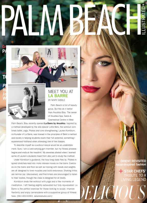 Palm Beach Illustrated Features La Barre By Anushka April 2013