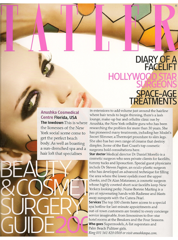 Tatler Features The Anushka Salon and Cosmedical Centre 2009