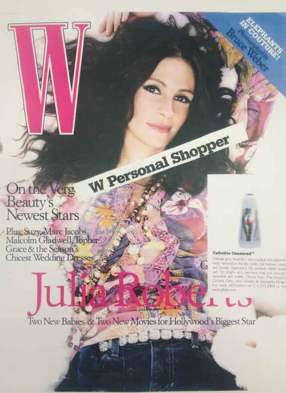 W Magazine Features Anushka Cellulite Serums January 2005