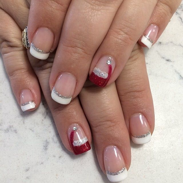 Festive French Manicure