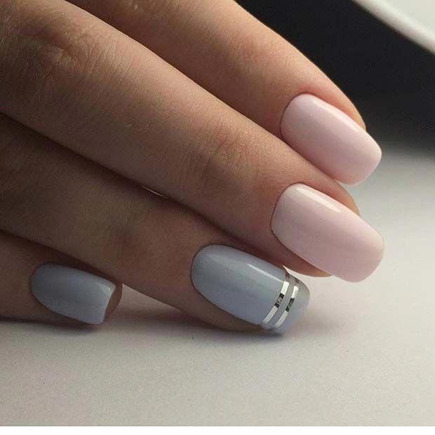 Simple Metallic Nails
