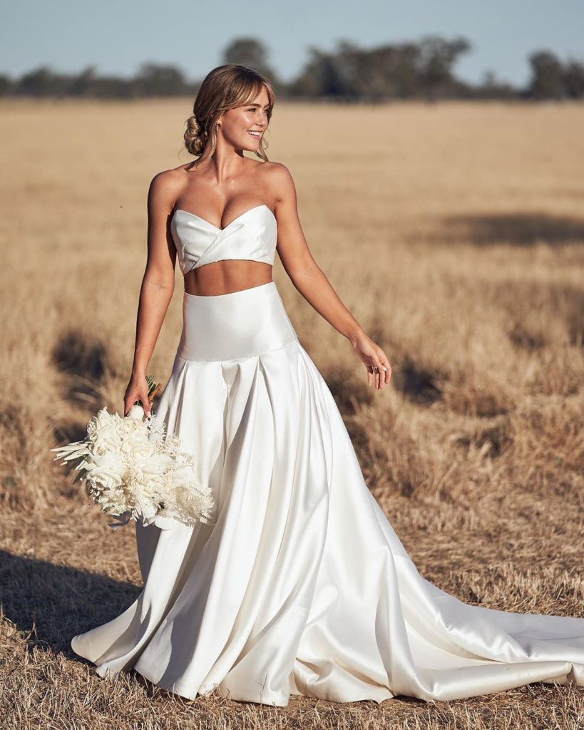 Steph Claire Smith in custom One Day Bridal