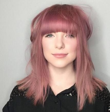 muted pink hair