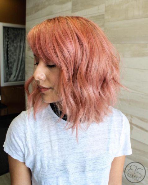 peachy pink