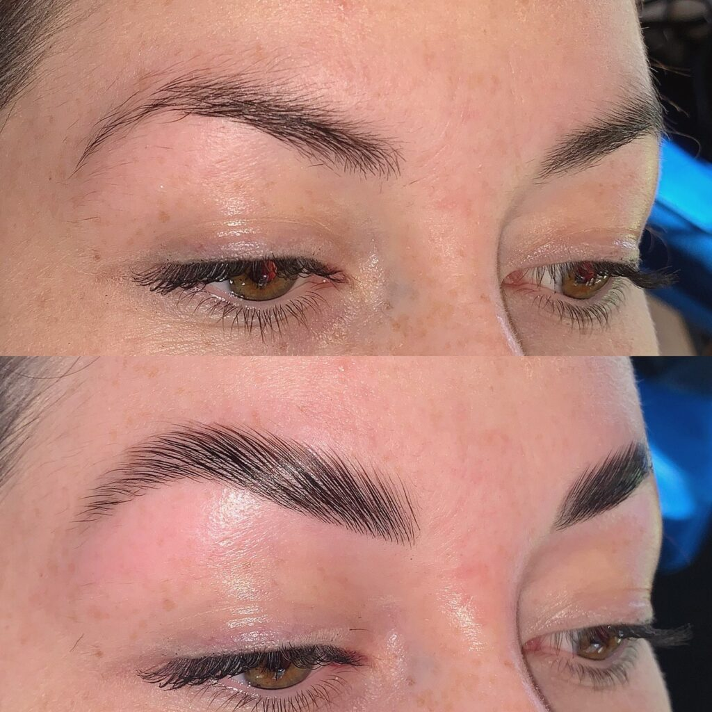 brow lamination before and after west palm beach