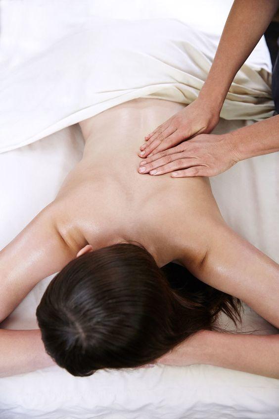 A women trying CBD Massage